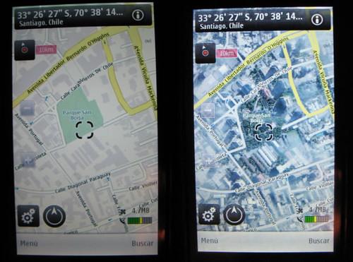 Vista  de calles y de satélite, respectivamente