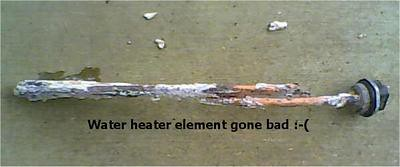 bad water heater element