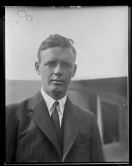 Famous Lindy close-up (Boston Public Library) Tags: airpilots lesliejones aviation aviator charlesalindbergh charleslindbergh lindbergh