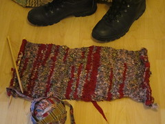knitted rag rug v1