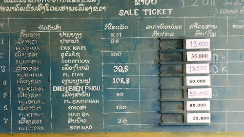 bus ticket price