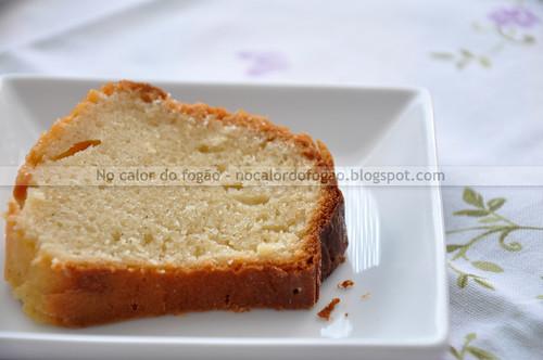 O bolo e suas pintas de sementes de baunilha