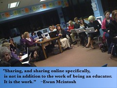 Sharing is the Work by edtechworkshop, on Flickr