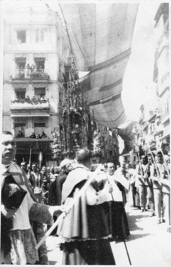 Procesión del Corpus Christi de Toledo en 1928. Fotografía de Eduardo Butragueño Bueno