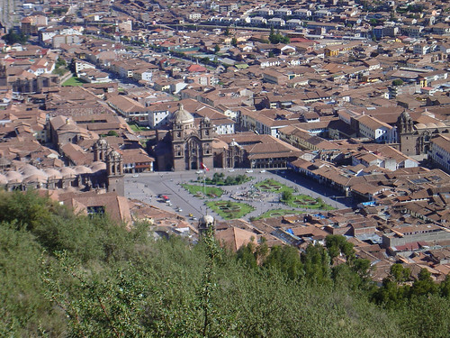 Plaza de Armas, Cusco viewed from Sacsayhuaman