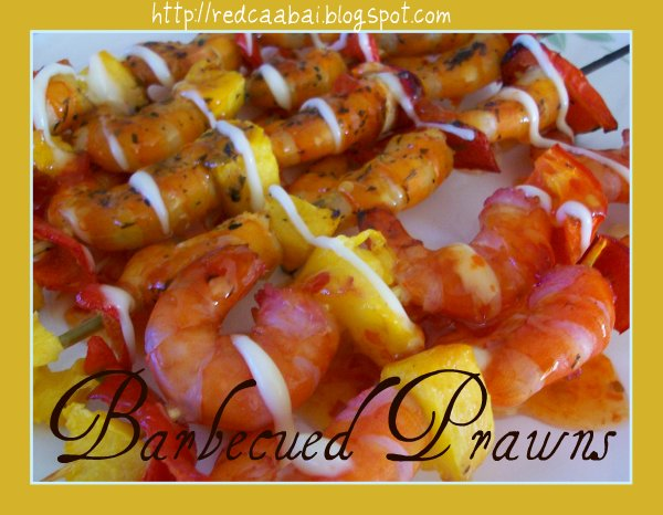 barbecued prawns