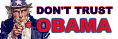 Uncle Sam says Don't Trust Barack Obama!