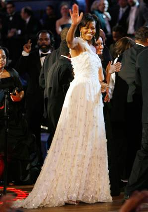 The First Lady, Michelle Obama wearing Jason Wu