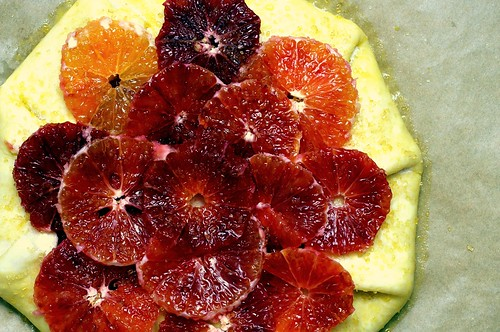 blood orange tart, to the freezer