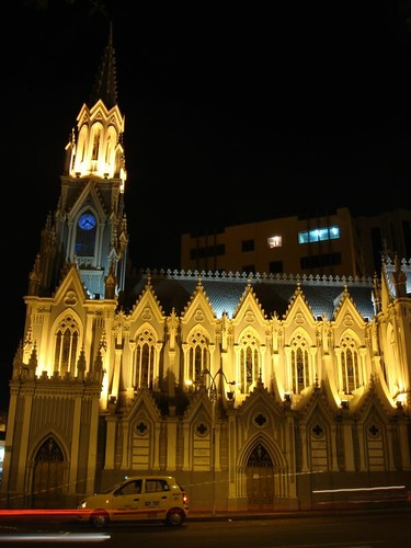 Beautiful Iglesia de la Ermita in downtown Cali, Colombia.