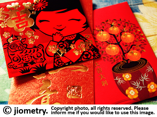 Red hong bao envelopes for you! Happy auspicious 2009 ox year!