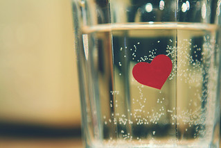 heart on glass