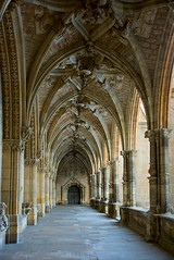 Leon Cathedral: Cloister (Dmitry Shakin) Tags: church spain cathedral leon vault cloister vaulting castillayleon