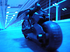 Knight Cycle (Rick_in_the_QC) Tags: macro closeup architecture modern toys actionfigure vanishingpoint nikon geek skybridge iowa comicbook superhero batman pointandshoot sciencefiction dccomics davenport secretlifeoftoys nikondigital mattel pointshoot darkknight notrealpeople quadcities batmanbegins brucewayne christianbale bobkane opteka views200 actionfigured closeupset actionfiguresinaction lifeinplastic toystakeover toycinematics photoshopelements5 comicbooktoys photoscape selftaughtphotographers 4closeupfilter coolpixp5100 nikoncoolpixp5100 knightcycle nikoncoolpixp5100group