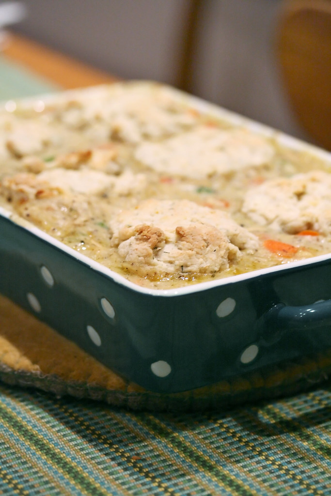 Chicken Pot Pie with Lemon-Dill Biscuits