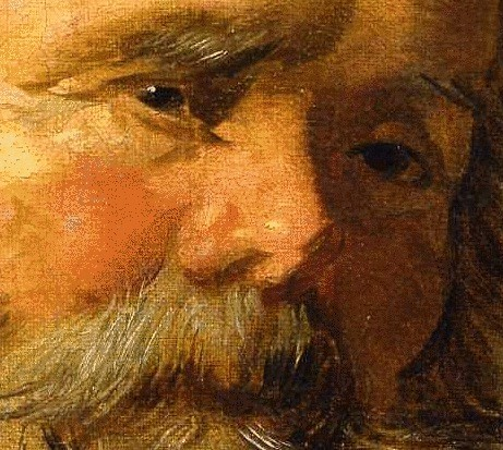 Frans Hals (Flemish, 1580-1666) St. Mark. Oil on canvas. 27 by 20 3/4 in. (68.5 by 52.5 cm). Colnaghi Gallery, Munich. (Detail)