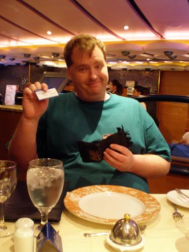 Mike and His Soda Card (Carnival Splendor)