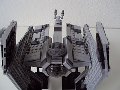 above front shot (The Black Baron 14) Tags: star fighter lego tie imperial wars moc aggressor