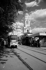 Nativity Cathedral (k.dmitrijewa) Tags: city bw digital canon cathedral russia streetphotography tram russian russie rostovondon rusia russland  rosja rusya rostovsurledon 40d oroszorszg  canon40d pennyjey  rostowamdon rostovsuldon
