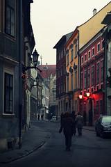 Sopron Street ([50storms]) Tags: street travel winter holiday cold lamp buildings dark evening europe hungary echo corridor abroad passage exploration narrow overseas sopron aplusphoto