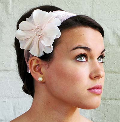 silk poppy adjustable headband