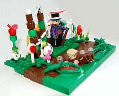 Willy Wonka & the Chocolate Factory (Craig 'Lego' Lyons) Tags: river factory lego chocolate sweets wonka willy loompa oompa gloop