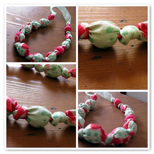 Fabric Necklace by Le Coccole di Giusy