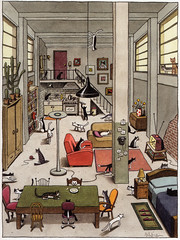 Franco Matticchio (laura@popdesign) Tags: cats art animals illustration books italianart animalsinart matticchio editorialillustration italianillustration francomatticchio