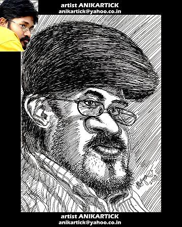 DRAWING of Chennai Animation Artist KARTHIK   ANIKARTICK Artist