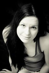 Lauren (611 productions) Tags: portrait bw color lauren canon women photoshoot bangor maine ringlight xti