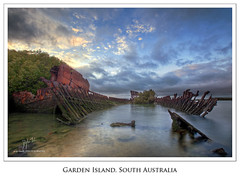 Grounded (Dylan Toh) Tags: port landscape coast rust exposure south ruin australia explore shipwreck maritime adelaide frontpage hdr blend waterscape gardenisland photomatix explored torrensisland auselite angasinlet