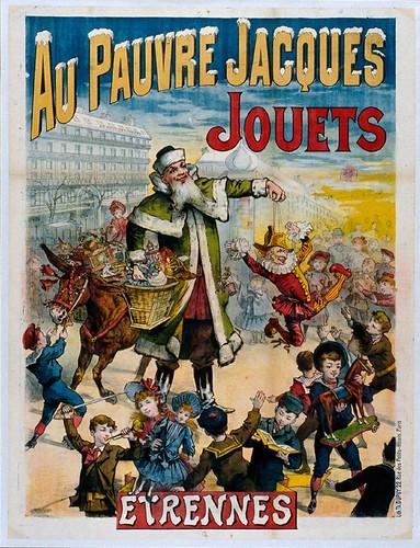 016- Affiche publicitario de juguetes Au Pauvre Jacques-siglo XIX