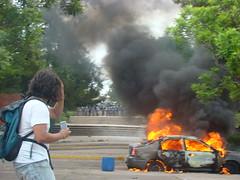 represión en la UNAH 5 de Agosto 4 por Protesta