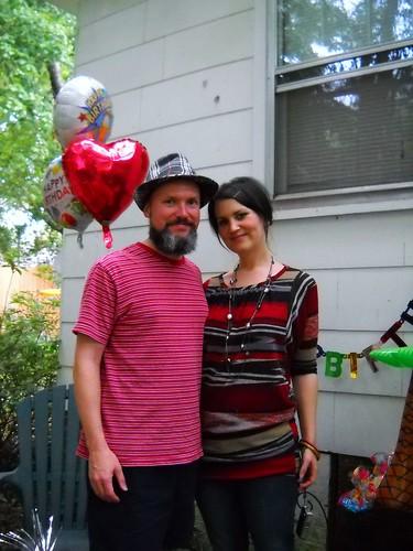 m's surprise 40th backyard party
