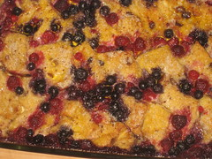 Berry Bread & Butter Pudding