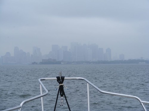 As Lower Manhattan Appears in the Mist