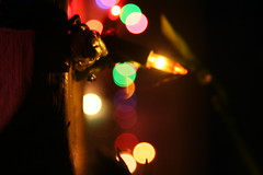 Beacon (Blackcatatheart) Tags: christmas light shadow abstract blur color shapes colored multicolored
