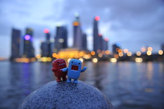 Invasion of Domo (FikhriSobri) Tags: toys nikon singapore waterfront domo nikkor invasion marinabay theesplanade 2470mmf28 d700 nikonflickraward flickraward