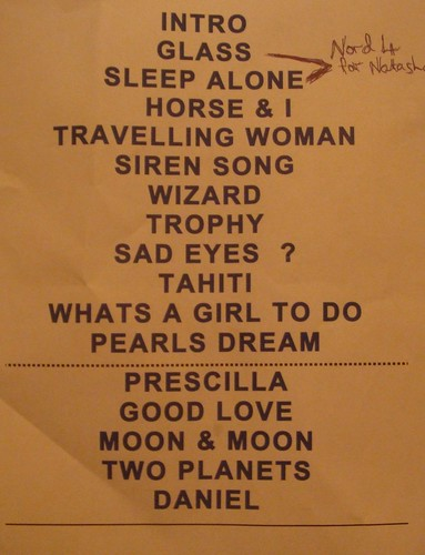 Bat For Lashes - Setlist by you.