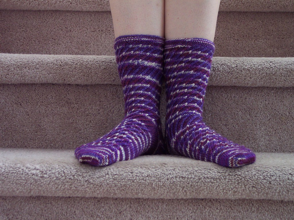 Ribbelmustersocken