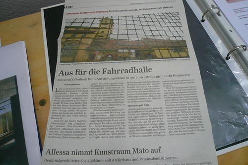 FR Artikel zum Ende der Fahrradhalle Offenbach 2007