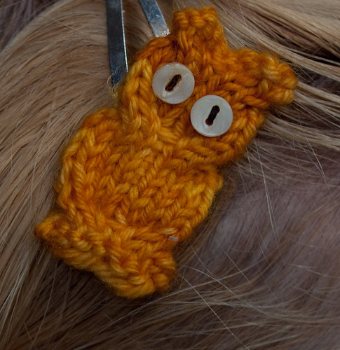 Hoot Owl Applique Free Knitting Pattern from the Animals Free Knitting Patter...