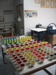multiplying (diana fayt) Tags: color studio ceramics order bisque cups collections process heathceramics dianafayt