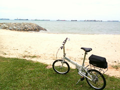 Dahon Vitesse D7 (chinnian) Tags: cloud white bicycle singapore 2009 foldingbike dahon eastcoastpark pcn foldie vd7 vitessed7 parkconnectornetwork