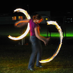 Anna of Fire 5 (Wolfie Smith) Tags: game night fire flames trails fair poi gamefair barrywright