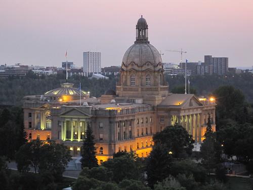 Alberta Legislature at Dusk