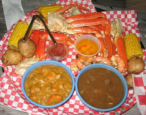 cajun , crawfish etouffee , shrimp gumbo , crab legs