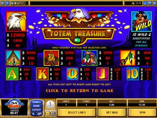 free Totem Treasure slot mini symbol