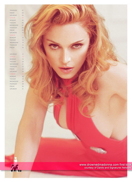 US Singer Official Madonna Calendar 2009 Photos - beautiful girls