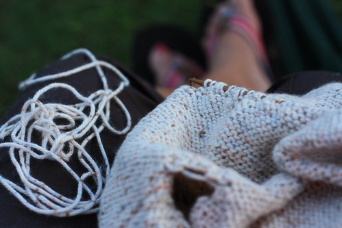 knitting at the ball game